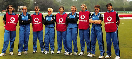 Members of the England Women team during training