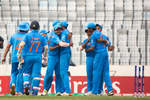India celebrate after beating Sri Lanka