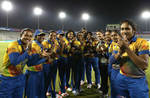 Harshitha Madavi of Sri Lanka receives her first cap