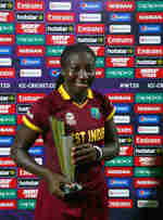 Stafanie Taylor Captain of the West Indies poses for the camera with her Player of the Match award