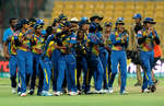 Another image showing team Sri Lanka celebrate after winning
