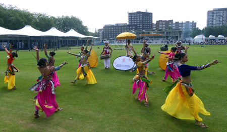 Dance performance at Lord's Nursery Ground