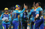 The Tridents celebrate after getting a wicket