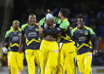 Tallawahs celebrate after striking