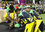 Tallawahs celebrate after winning the tournament