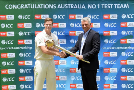 Smith receives ICC Test Championship mace