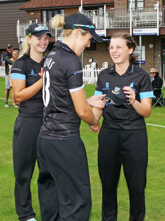 Bethany Tagg receives her Sussex Women cap
