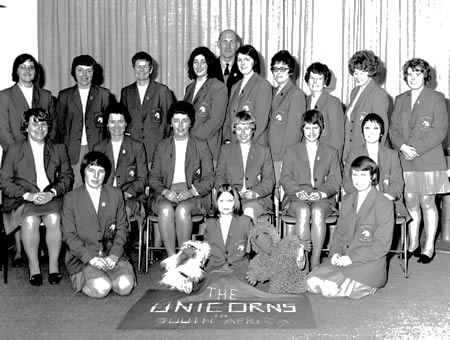 Unicorns Women Team photograph, 1974/75