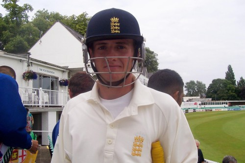 Steve Davies plays for England Under-19