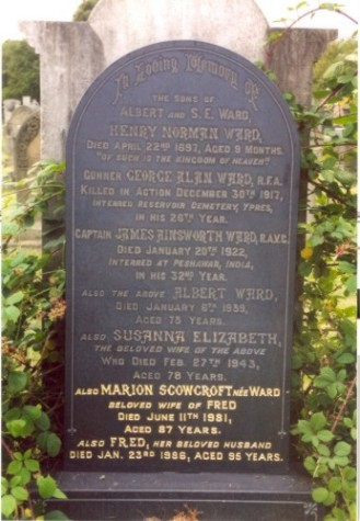 Last resting place of Albert Ward
