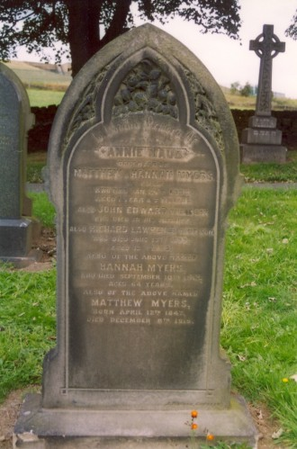Last resting place of Matthew Myers