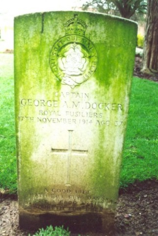 Last resting place of George Docker