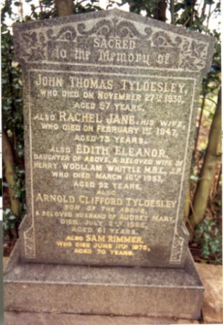Last resting place of John Tyldesley