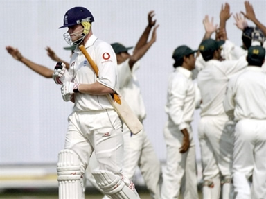Andrew Flintoff departs as Pakistan A team celebrate