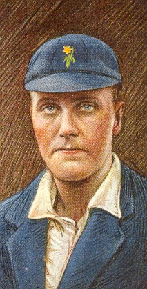 Cigarette card showing Frank Ryan