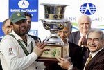 Inzamam-ul-Haq holds the Bank Alfalah Cup