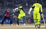 Younis Khan plays a cover drive