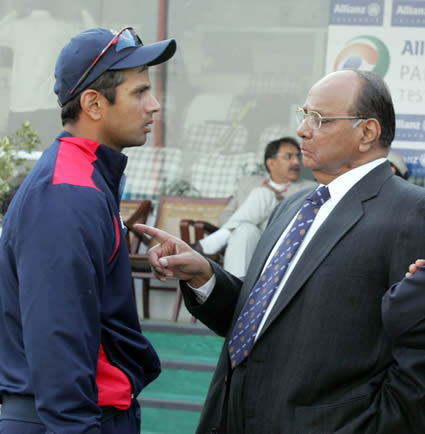 BCCI President Mr Powar having a discussion with the Indian Captain