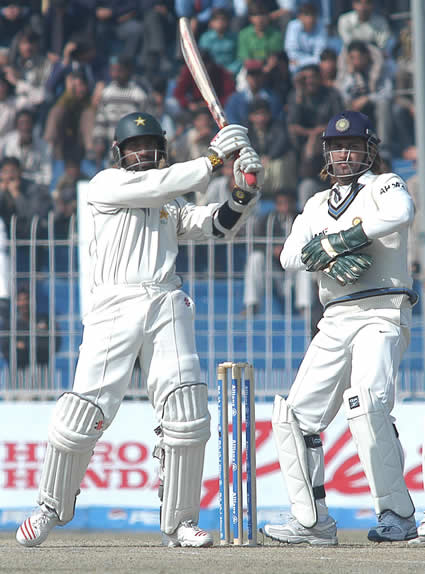 Mohammad Yousuf hits a six