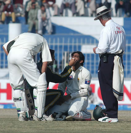 Mohammad Yousuf got hurt