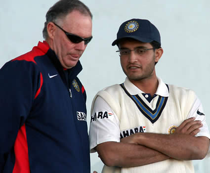 Chappel and Ganguly having discussion