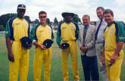 Three Hampshire players receive caps.