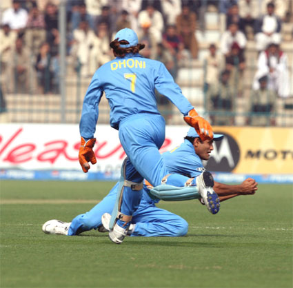 Irfan Pathan takes a catch