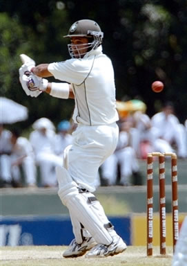 Imran Farhat plays a shot